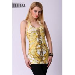 4318-2 Bokserka w stylu Glamour REDIAL - żółty