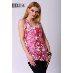 4318-1 Bokserka w stylu Glamour REDIAL - różowy